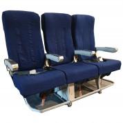 Flysæde - stolesæt med 3 pladsen - Ægte