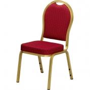 Guld stol - Rødt sæde
