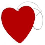 Hjerte m. rød Glimmer