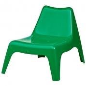 Stol - Lænestol grøn i plast