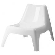 Stol - Lænestol hvid i plast