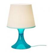 Bordlampe - hvid/blå