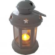 Lanterne lille Hvid - inkl. LED fyrfadslys