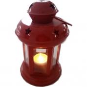 Lanterne lille Rød - inkl. LED fyrfadslys