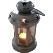 Lanterne lille Sort - inkl. LED fyrfadslys
