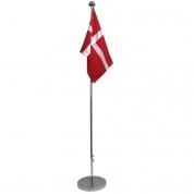 Flagstang i krom med dannebrogsflag 160cm høj