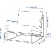 Lænestol i Lounge stil - HAVSTEN - Hvid