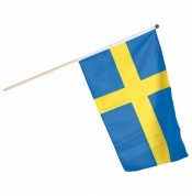 Flag på træpind - Sverige