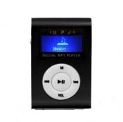 MP3 afspiller med LCD skærm - lille sort