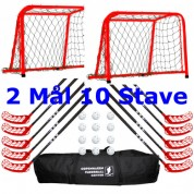 Hockey sæt mål og stave 10 personer - Voksenstave