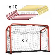 Hockey sæt mål og stave 10 personer - Børnestave