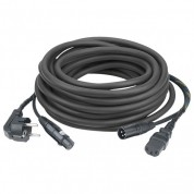 Lyd strøm-signal kabel Sch.XLR 10m sort