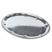Fad - sølv ovalt