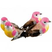 Fugle på klips, 4 stk.