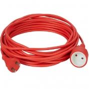 Forlængerkabel 230V Rød 10m - 2 x 1,0 mm