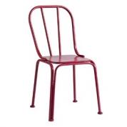 Pink metal stol