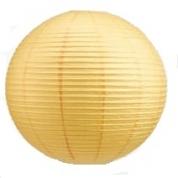 Rispapirlampe - Gul Ø90 cm.