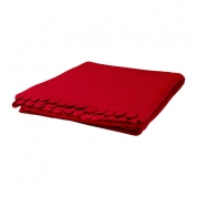 Tæppe plaide, rød