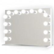Sminkespejl - make up spejl med lys 80x65 cm