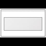 Sidevæg 4m Hvid - Med firkantet vindue vandret 4x4.M.C