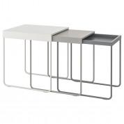 Sofabord - sæt med 3 stk i metal