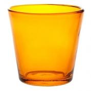 Fyrfadsstage i glas brun - gulv