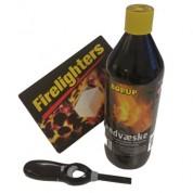 Optændingssæt til 4 bålfad eller olietøender