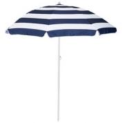 Parasol - Stribet Blå/Hvid
