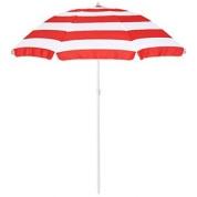Parasol - Stribet Rød/Hvid