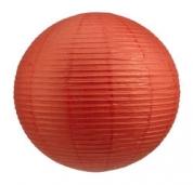 Rispapirlampe - Rød Ø90 cm.