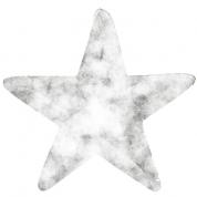Stjerne m. hvid Glimmer