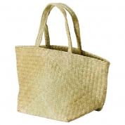 Strandtaske i bambus flet