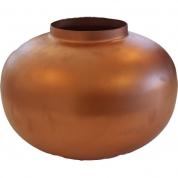 Vase, kobberfarvet
