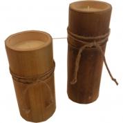 Fyrfadsstage Bambus - lav 18cm