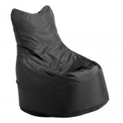 Sækkestol med ryg - sort