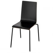 Stol - Sort stol i træ med stil