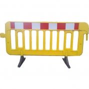 Afspærringshegn i plastik gul H103 x L196cm