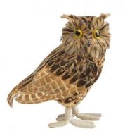 Ugle med fjer 20 cm.