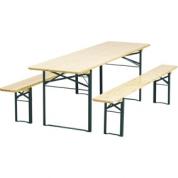 Bord og bænk sæt 67x220 cm