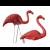Flamingo fuglepar - Lyserød i plast på pind