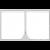 Sidevæg 4m Hvid - Med lynlås i midt Model 4x4.M.A