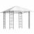 Pavillon med tag B3 x L3 m - Hvid sejl